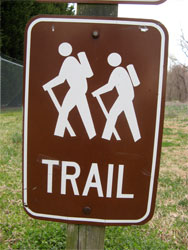 A hiking trail sign at Two-Heel Drive, A hiking blog