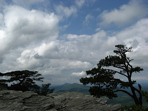 View from Moore's Knob at Hanging Rock State Park