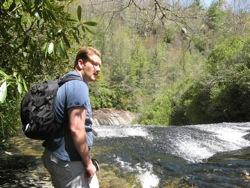 Chris, my hiking partner at Panthertown Valley