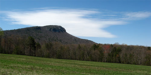 Cropped image at Hanging Rock State park