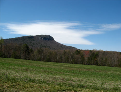 Cropped image from Hanging Rock state park
