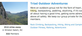 Forming a hiking group can be a major challenge