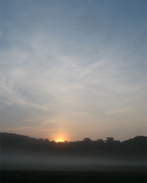 Sunrise at Tanglewood Park in Clemmons North Carolina