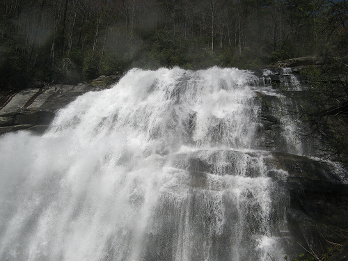Picture of a waterfall for story on waterfall risks