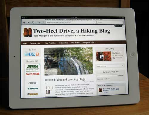 The iPad -- why does it matter to hiking bloggers?