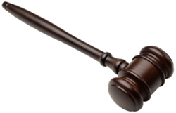 gavel representing judgment for editing