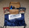 Box of Pemmican beef jerky and other cool stuff